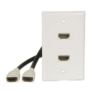HDMI 1.4 Double Wallplate with Flylead